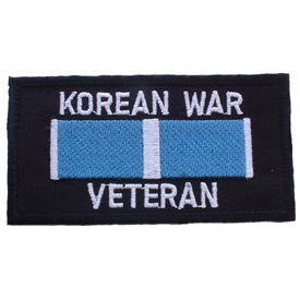 "PATCHES: KOREAN WAR VETERAN (4""X2-1/8"")"