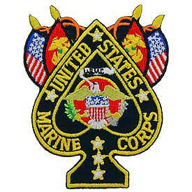 "PATCHES: USMC SPADE FLAGS (3"")"
