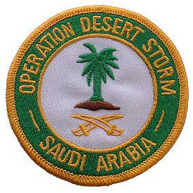 "PATCHES: DESERT STORM, SAUDI ARABIA (3"")"