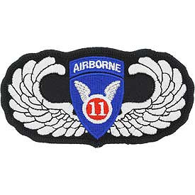 "PATCHES: ARMY 011TH AIRBORNE  WING (4 1/8"")"