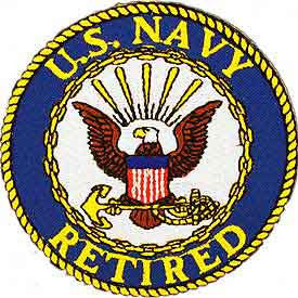 "PATCHES: US NAVY LOGO, RETIRED (3"")"