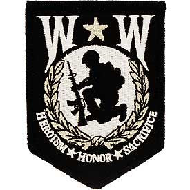 "Patches: Wounded Warriors Shield (3-3/8"")"
