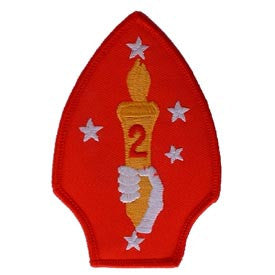 "PATCHES: USMC 02ND DIV (3-1/2"")"