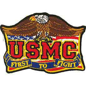 "PATCHES: USMC FIRST TO FIGHT (3-1/2"")"