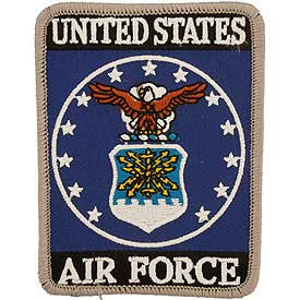 "PATCHES: USAF EMBLEM, RECT. (3-5/8"")"