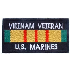 "PATCHES: VIETNAM BDG, USMC VET (4"" X 2-1/8"")"