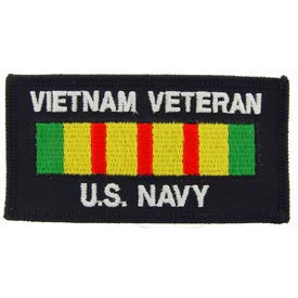 "PATCHES: VIETNAM, BDG, USN VET (4"" X 2-1/8"")"