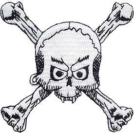 "PATCHES: SKULL & BONES, FANGS (3-1/4"")"