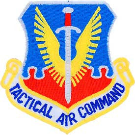 "PATCHES: USAF TACT. AIR CMD. (SHIELD) (3"")"