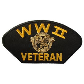 "PATCHES: WWII HAT VETERAN (3""X5-1/4"")"