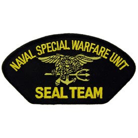 "PATCHES: US NAVY HAT, SEAL TEAM (3""X5-1/4"")"