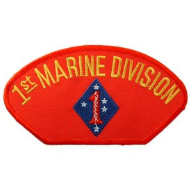 "PATCHES: USMC HAT 001ST DIV. (3""X5-1/4"")"