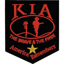 "PATCHES: KIA AMERICA REMEMB. (GOLD STAR HONOR) (3-3/8"")"