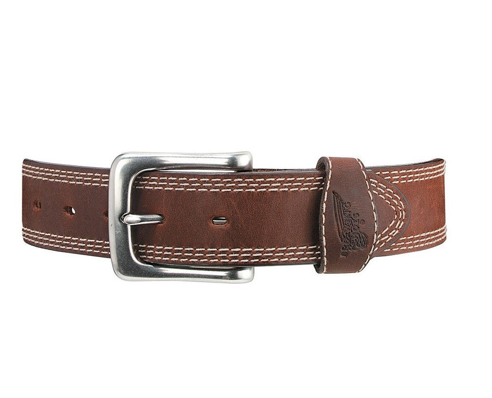 Red Wing Belts: 1-3/8-inch Triple Stitched Belt Brown