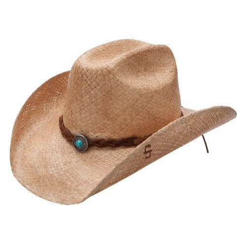 Stetson Hats: Flatrock Shape-able Straw Hat Natural