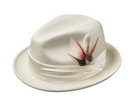 Broner: Felt Centennial Dress Hat White