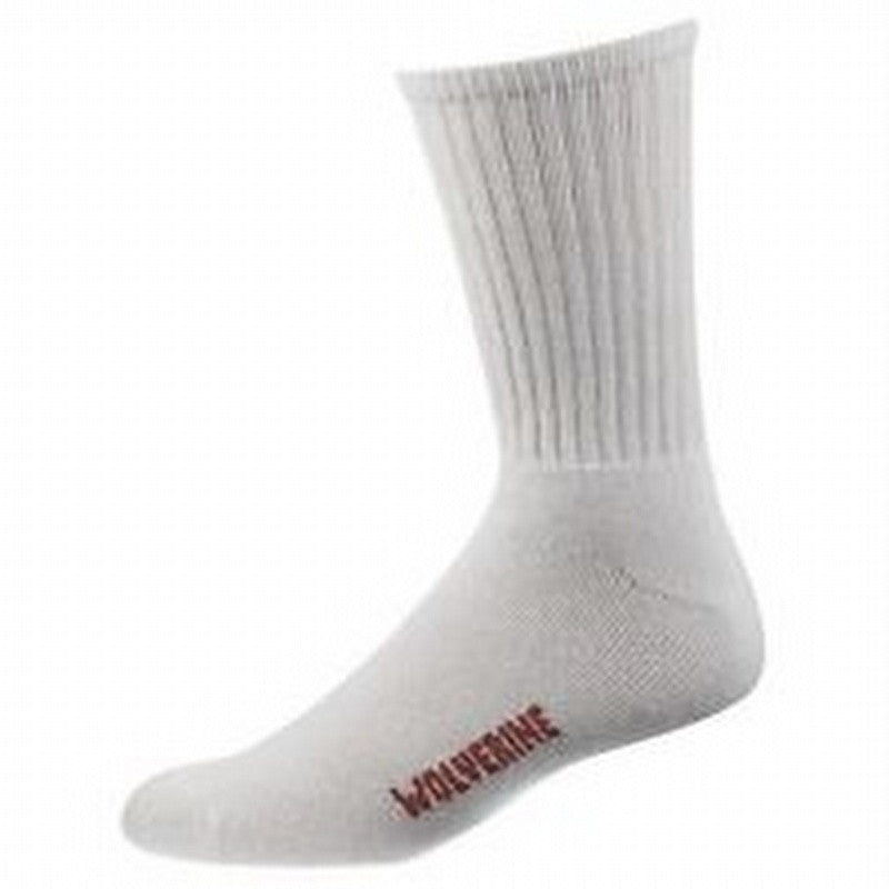 Wolverine Socks: Men's Crew 4PK White