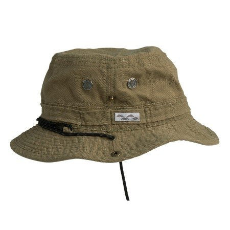 Conner: Yellowstone Cotton Outdoor Hiking Hat - Khaki