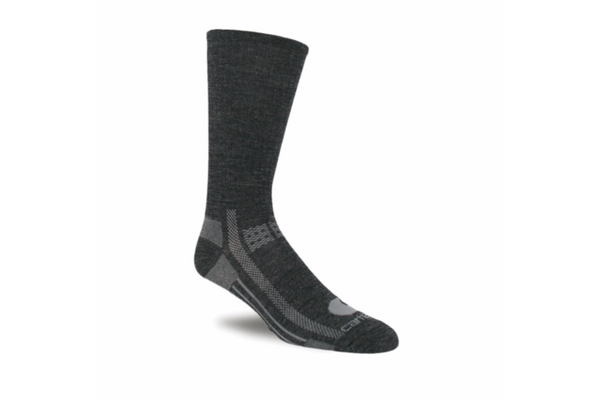 Carhartt Socks: Flat Knit Everyday Crew Sock Coal Heather