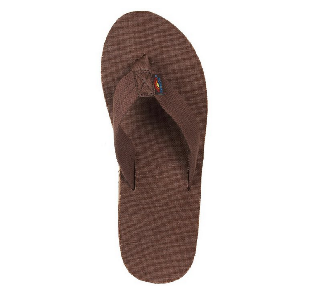 165559101 Rainbow Men s Double Layer Hemp Top   Strap w  Arch Support Brown ...