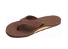 Rainbow Men's Double Layer Hemp Top & Strap w/ Arch Support Brown