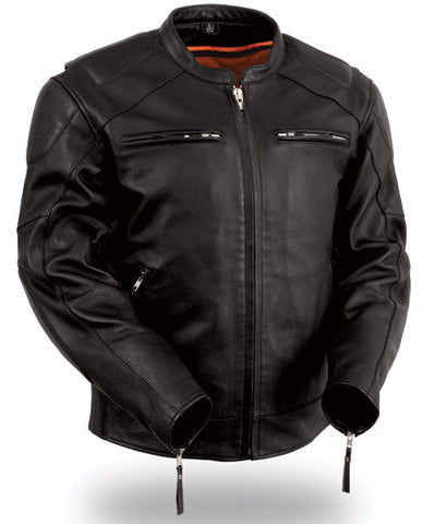 First Manufacturing Men's Vented Sleek Scooter Jacket - Black