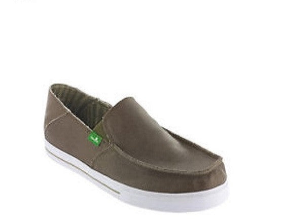 Sanuk Men's Baseline Waxed Army