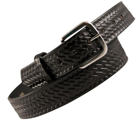 "Boston Leather 1-1/2"" Off Duty Casual Belt Black"
