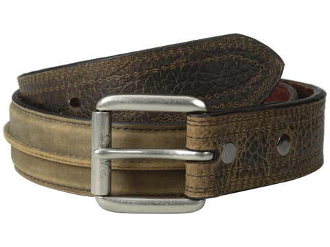 Ariat Western Belts: 1 1/2 inch Center Seam Belt Brown