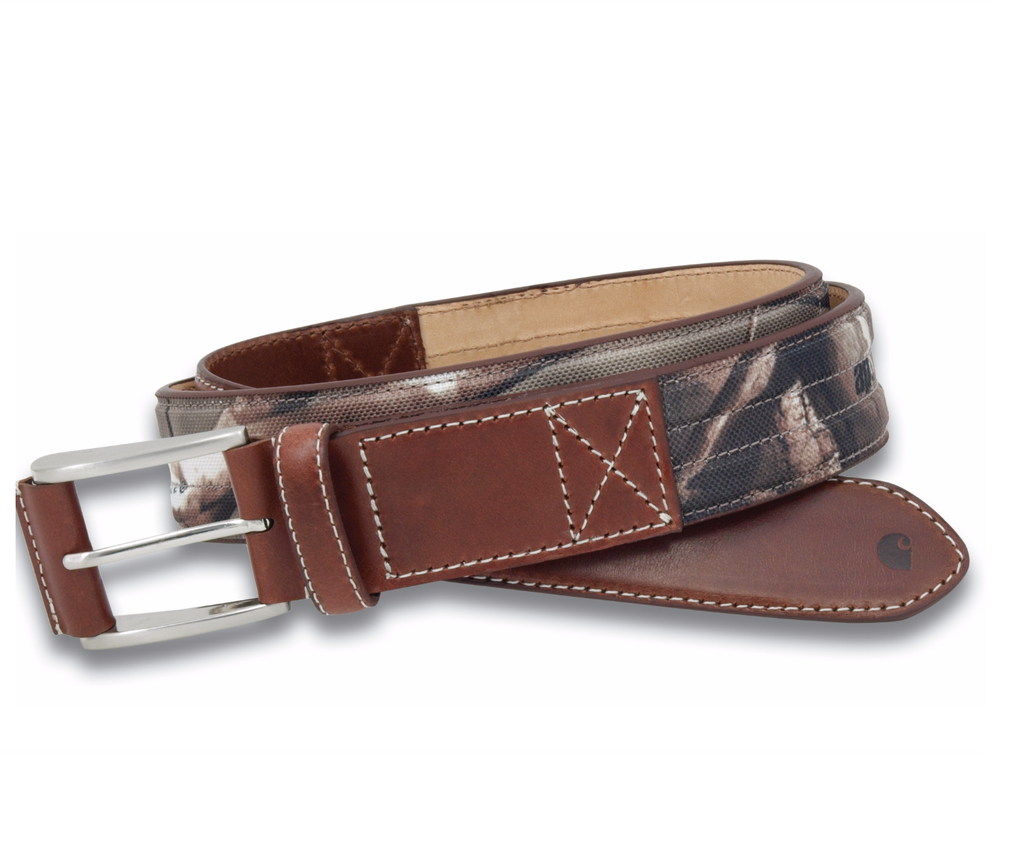 Carhartt Lth. Belts: Realtree Camo Leather Belt