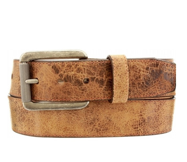 Justin Western Belts Tailgunner Leather Belt Tan Army