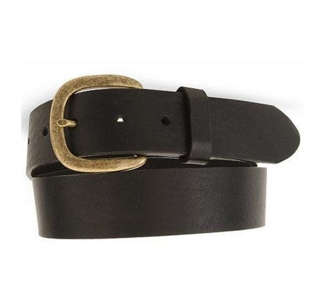 Justin Western Belts: Basic Leather Work Belt Black