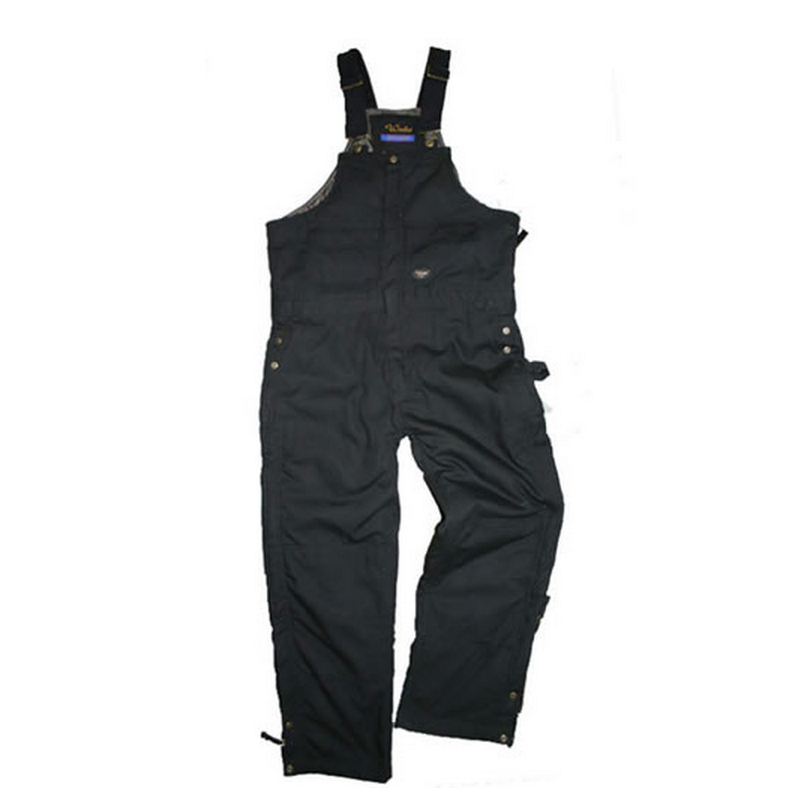 Walls Men's Mid-Weight Insulated Bib Black