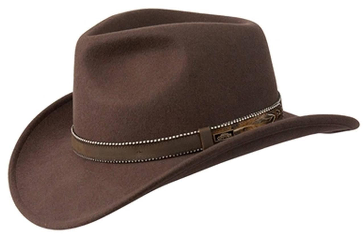 3c49554904f Conner Hats Australian Wool Outback CRUSHABLE Western Cowboy Hat Brown
