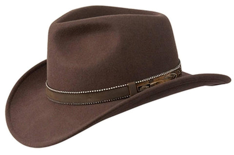 Conner Hats Australian Wool Outback CRUSHABLE Western Cowboy Hat Brown
