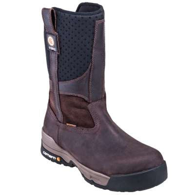 "Carhartt Boots: Men's 10"" Force Wellington Waterproof Composite Toe Pull-On Boots"