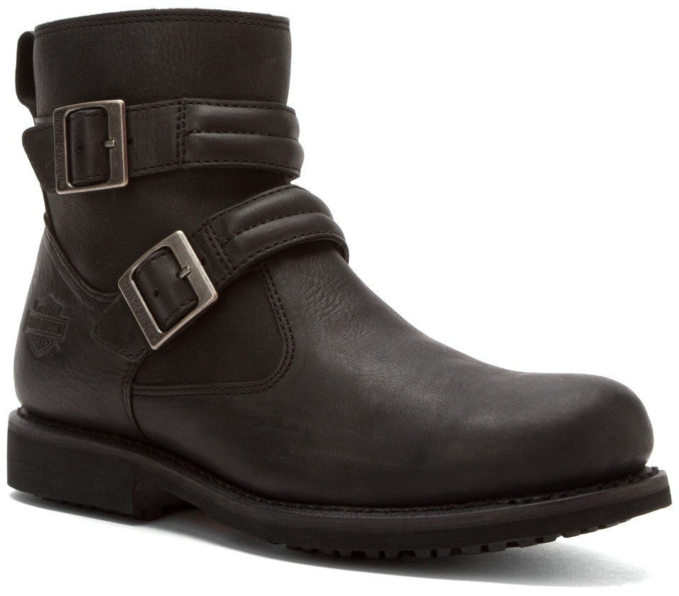 Harley-Davidson Mens Dennis Black Leather Low Cut Boot