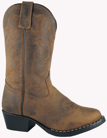 Smoky Mountain Boys (Toddler's) Denver Brown Oiled Leather Western