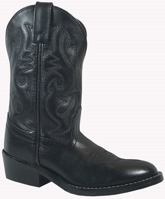 Smoky Mountain Kids Denver Leather Western Boot - Black
