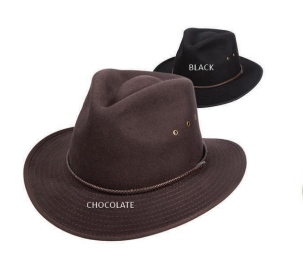 Dorfman Pacific: Outback Water Repellant Crushable Chocolate