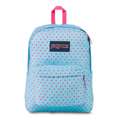 Jansport Superbreak Backpack - Polka Dot, Blue
