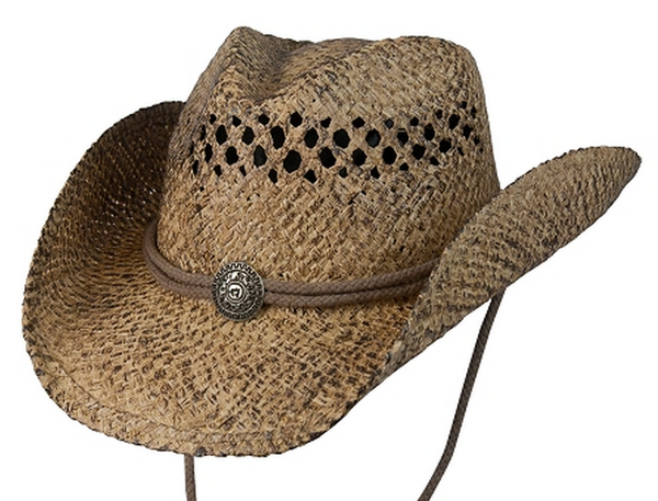 Conner Hats: Organic Aussie Raffia Western Hat With Concho