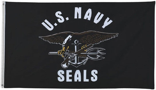Flags: US Navy Seals 3′ x 5′ Flag