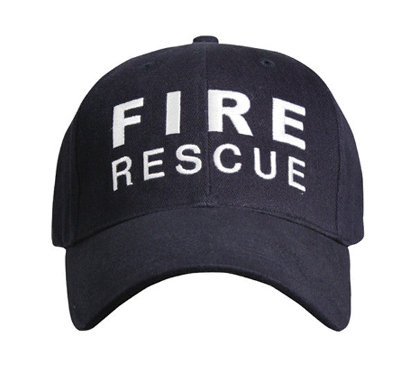 Rothco Hats: Fire Rescue Supreme Low Profile Insignia Cap - Navy