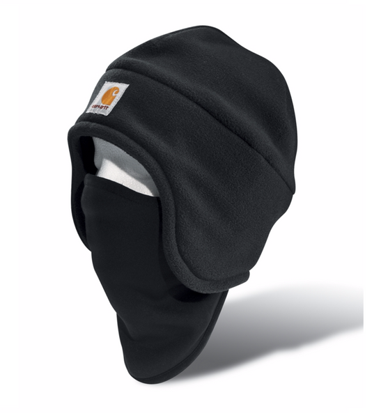 Carhartt Hats: Fleece 2-in-1 Headwear Black