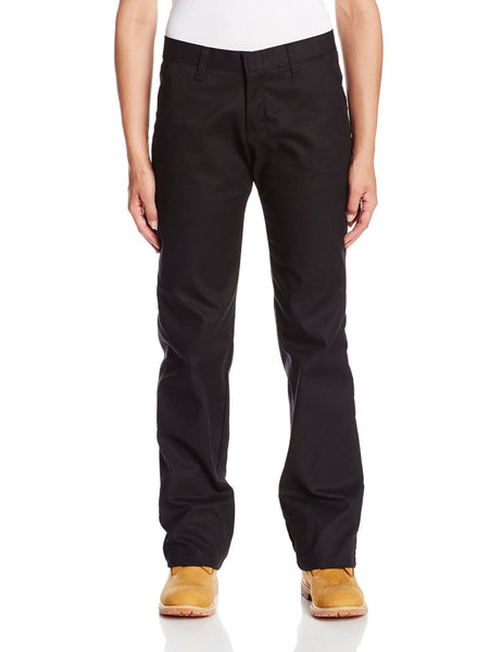 Dickies Pants: Women's Casual Fit Flat Front Twill Pant - Black