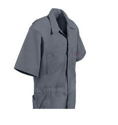 Dickies Short Sleeve Coveralls Grey