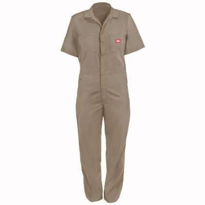 Dickies Work Clothes: Men's Khaki Cotton Blend Coveralls