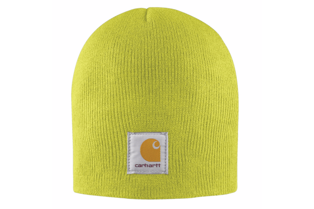 Carhartt Hats: Acrylic Knit Brite Lime