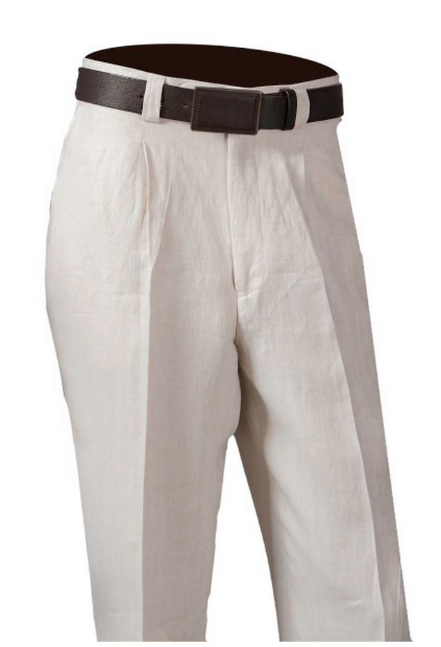 INSERCH PANTS ONE PLEAT 100% LINEN